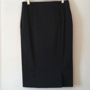Mango pencil skirt with accent in the back